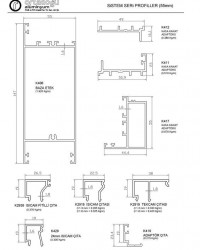 Sistem Seri Profilleri (55mm)